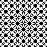 Fond noir et blanc géométrique floral sans couture décoratif de modèle image stock