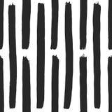 Fond noir et blanc mignon tiré par la main abstrait Modèle sans couture monochrome avec des éléments de peinture dans le vecteur Photo stock