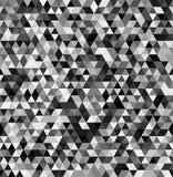 Fond noir et blanc sans couture géométrique de triangle abstraite Photo libre de droits