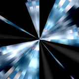 Fond noir et bleu de vortex Photo libre de droits