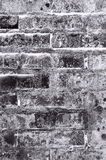Fond noir et gris de texture de mur de briques Photographie stock libre de droits