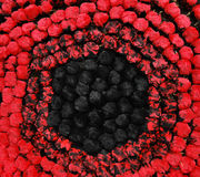Fond noir et rouge Images libres de droits