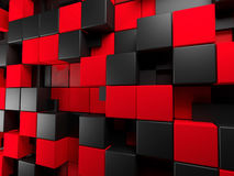 Fond noir et rouge Photographie stock libre de droits