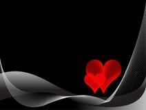 Fond noir et rouge d'amour Illustration de Vecteur