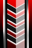 Fond noir et rouge géométrique Image stock