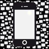 Fond noir mobile Photographie stock libre de droits