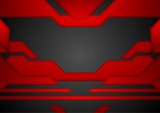 Fond noir rouge abstrait de concept de disposition de technologie Photos libres de droits