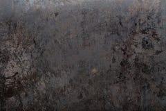 Fond noir usé en métal Photo stock