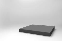 Fond noir vide de cube Photographie stock