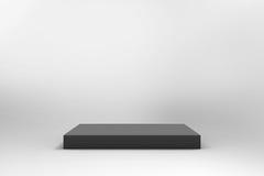 Fond noir vide de cube Photographie stock libre de droits