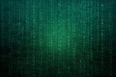 Fond numérique abstrait avec le code binaire Pirates informatiques, darknet, réalité virtuelle et science-fiction illustration de vecteur