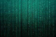 Fond numérique abstrait avec le code binaire Pirates informatiques, darknet, réalité virtuelle et science-fiction illustration stock