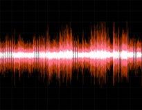 Fond numérique abstrait d'onde sonore illustration de vecteur