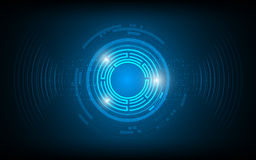 Fond numérique abstrait de concept d'innovation de technologie de conception de rayon d'onde sonore illustration libre de droits