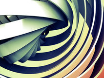 Fond numérique coloré abstrait avec la spirale 3d Photo stock