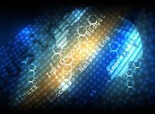 Fond numérique d'abrégé sur affaires de scintillement Image libre de droits