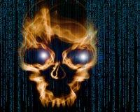 Fond numérique d'attaque de pirate informatique illustration libre de droits