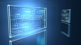 Fond numérique de programm de code informatique