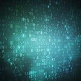 Fond numérique de vecteur de code de données binaires d'ordinateur Image libre de droits