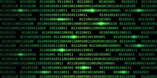 Fond numérique vert de technologie de Web de code binaire illustration stock