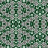Fond num?rique vert, noir, blanc, gris abstrait g?om?trique avec les particules cybern?tiques illustration stock