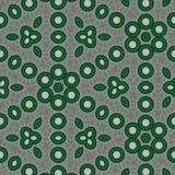 Fond num?rique vert, noir, blanc, gris abstrait g?om?trique avec les particules cybern?tiques illustration libre de droits