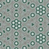 Fond num?rique vert, noir, blanc, gris abstrait g?om?trique avec les particules cybern?tiques illustration de vecteur