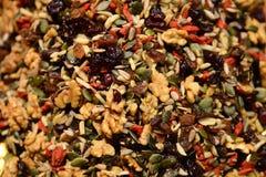 Fond nuts mélangé Photos stock