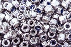 Fond nuts métallique Photos libres de droits