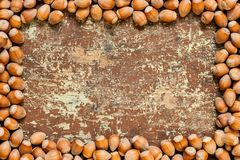 Fond Nuts mûr image libre de droits