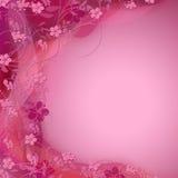 Fond ombragé par couleur florale rose mignonne Photographie stock