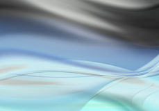 Fond ondulé abstrait bleu Images libres de droits