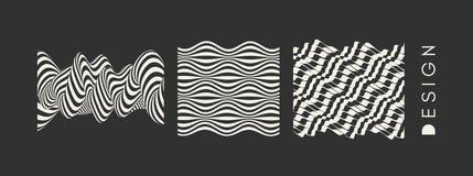 Fond ondulé abstrait Configuration avec l'illusion optique Maquette de manuel, de livret ou de brochure Calibre de conception de  illustration libre de droits