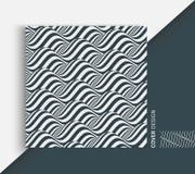 Fond ondulé abstrait Configuration avec l'illusion optique Maquette de manuel, de livret ou de brochure Calibre de conception de  illustration de vecteur
