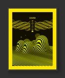 Fond ondulé abstrait Configuration avec l'illusion optique Maquette de manuel, de livret ou de brochure Calibre de conception de  illustration stock
