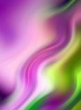 Fond ondulé abstrait dans pourpré, rose et vert Image stock