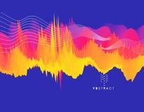 Fond ondulé abstrait Effet dynamique Illustration de vecteur illustration de vecteur
