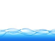 Fond ondulé bleu illustration de vecteur