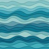Fond ondulé bleu abstrait Images libres de droits