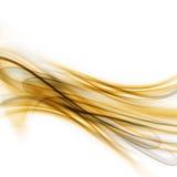 Fond ondulé d'or abstrait illustration de vecteur