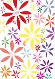 Fond ondulé de fleurs Photo libre de droits