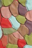 Fond ondulé de plâtre de couleur décorative, XXXL Images stock