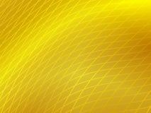 Fond ondulé jaune avec le réseau Images libres de droits