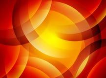 Fond ondulé orange abstrait Photo libre de droits
