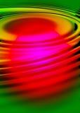Fond ondulé par 3D coloré Photo stock