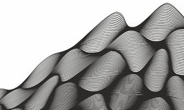 Fond onduleux abstrait avec l'effet dynamique Fond abstrait de technologie illustration stock