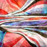 Fond onduleux abstrait d'éléments Photo stock