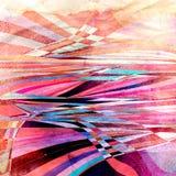Fond onduleux abstrait d'éléments Photo libre de droits