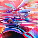 Fond onduleux abstrait d'éléments Image libre de droits