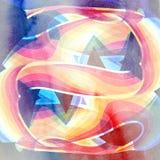 Fond onduleux abstrait d'éléments Photos stock